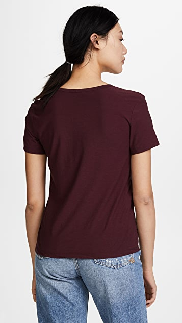 James Perse Deep V Skinny Tee