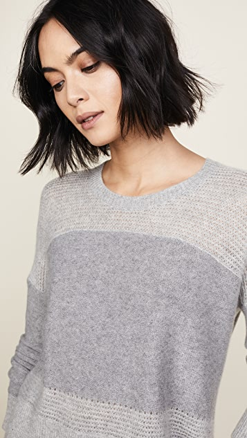 James Perse Cashmere Open Stitch Crew Sweater