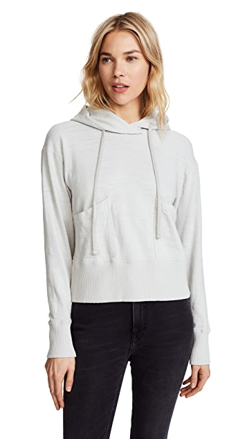 James Perse Vintage Pocket Pullover Hoodie