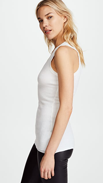 James Perse Cashmere Rib Double Layer Tank