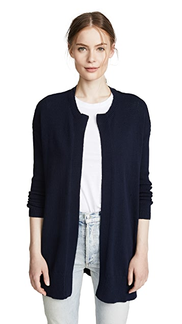 James Perse Drop Shoulder Buttonless Cardigan