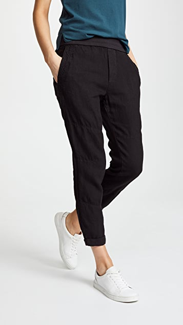 James Perse Patched Pull On Pants