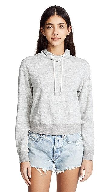 James Perse Shrunken Hoodie Sweatshirt
