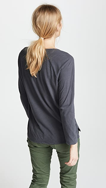 James Perse Reverse Binding Raglan Tee