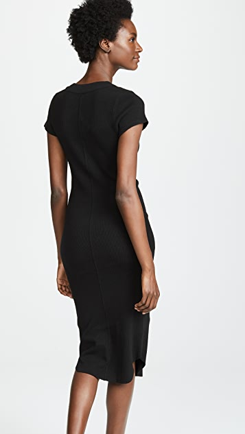 James Perse Ribbed Henley Dress