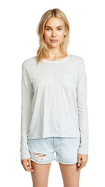 James Perse Long Sleeve Pocket Tee