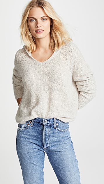 James Perse Cashmere Cropped Hoodie