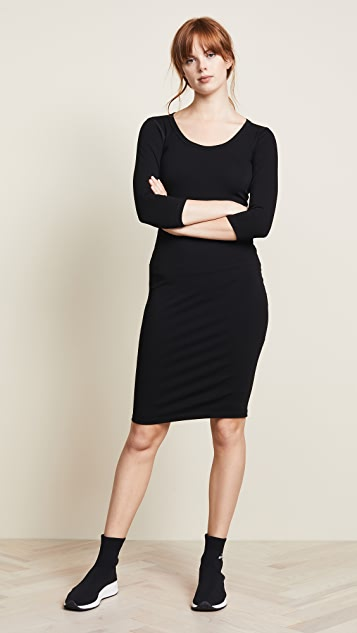 James Perse 3/4 Sleeve Fitted Dress
