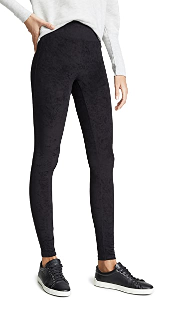James Perse High Waist Velvet Leggings