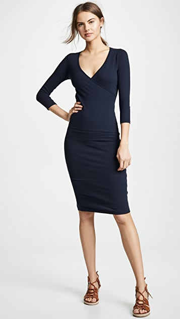 1a396ddfaa0 ... James Perse Sueded Jersey Wrap Dress ...
