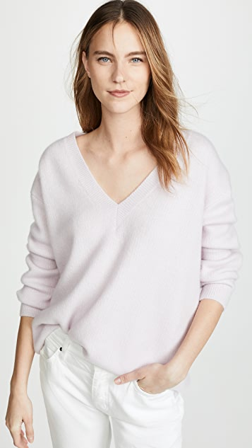 James Perse Oversized V Neck Cashmere Sweater - Parma