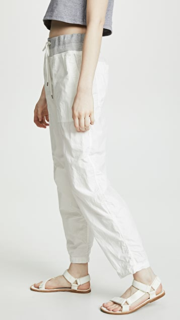 James Perse Mixed Media Poplin Pants