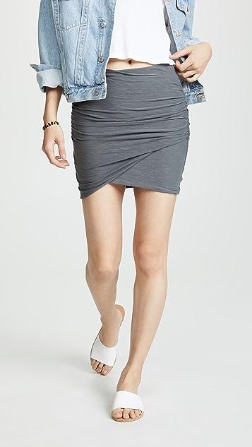 James Perse Wrap Miniskirt
