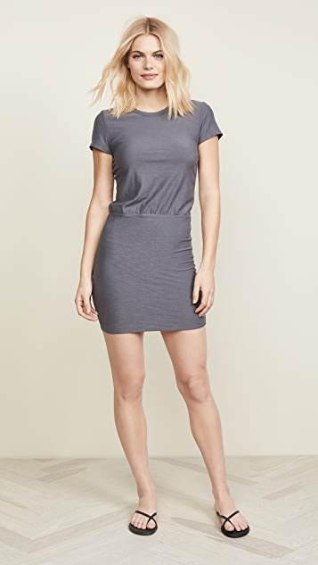 James Perse Short Sleeve Blouson T-Shirt Dress