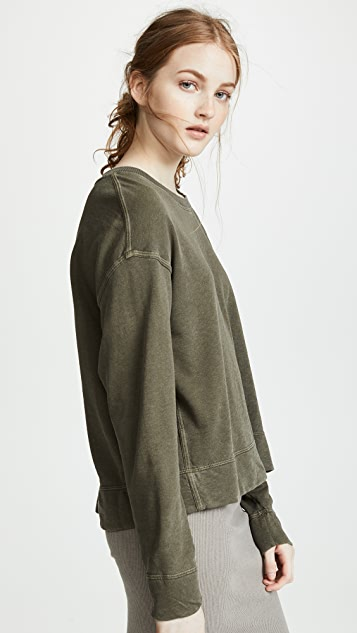 James Perse Relaxed Cropped Pullover