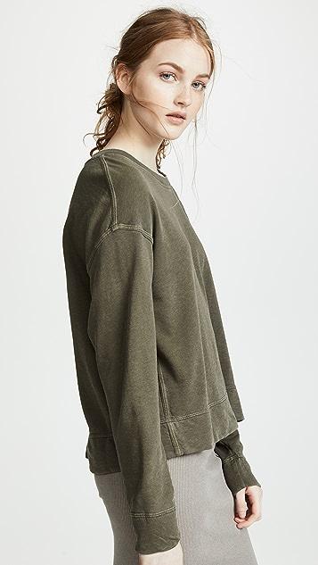 James Perse Непринужденный укороченный пуловер