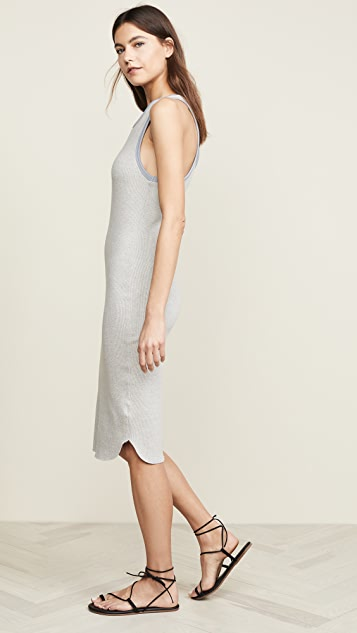 James Perse Sporty Trim Rib Tank Dress