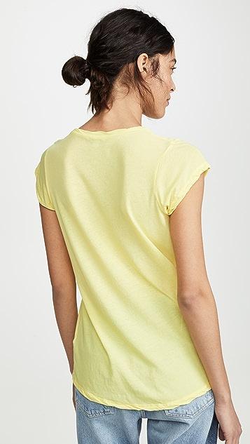 James Perse High Gauge Jersey Deep V T-Shirt