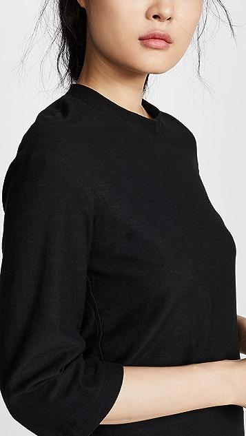 James Perse Свободное платье Drop с рукавами три четверти