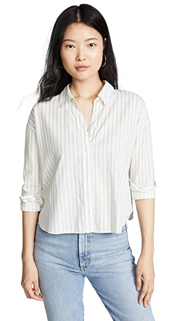 James Perse 条纹休闲衬衫