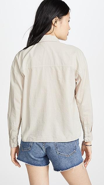 James Perse Cotton Lawn Boxy Shirt