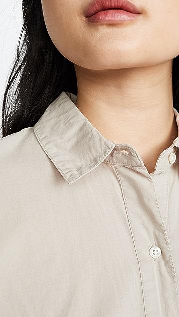 James Perse Свободная рубашка Lawn из хлопка