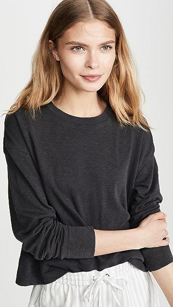 James Perse Свободные укороченные толстовка-пуловер