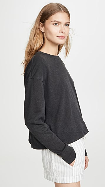 James Perse Relaxed Cropped Pullover Sweatshirt