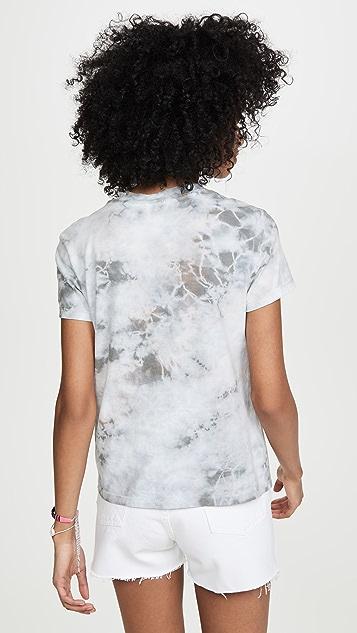 James Perse Винтажная футболка в мужском стиле с рисунком в технике узелкового батика