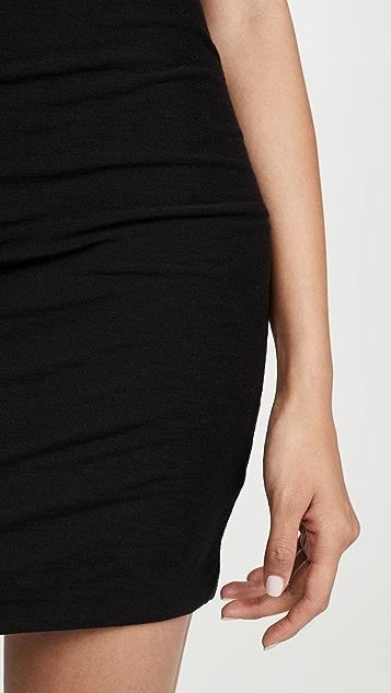 James Perse Short Sleeve V Neck Dress