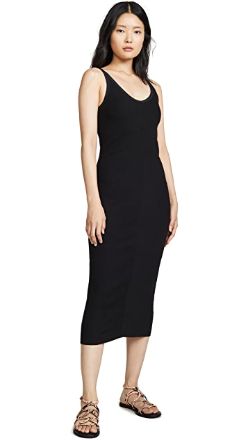 James Perse Chevron Rib Cami Dress