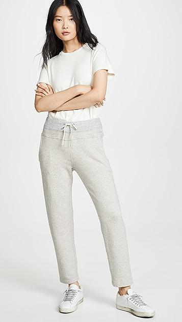 James Perse Contrast Waistband Fleece Pants