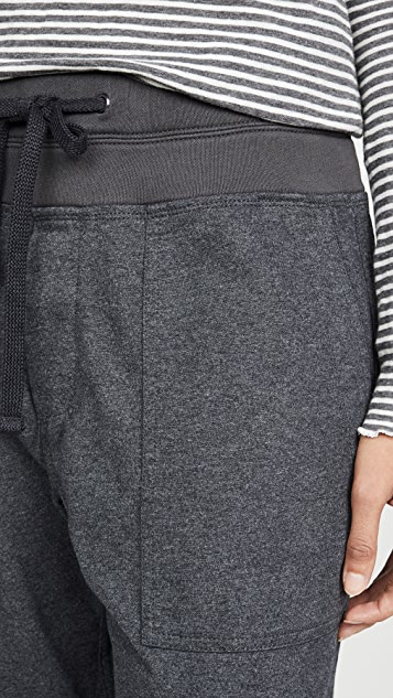 James Perse Pull On Brushed Jersey Cargo Pants