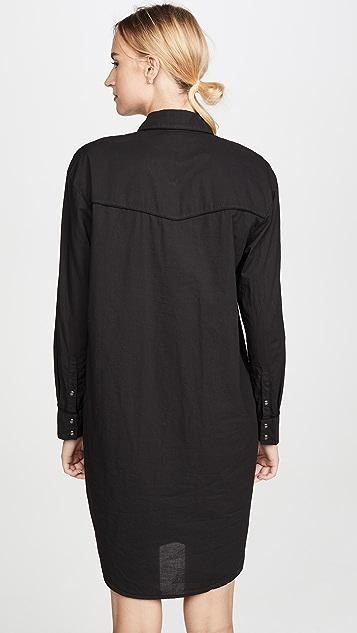 James Perse 刺绣西部风格连衣裙