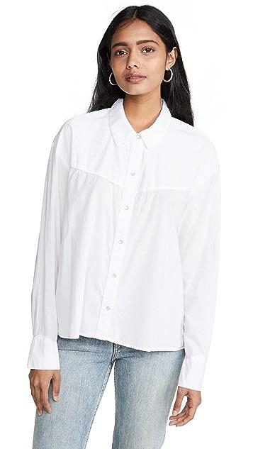 James Perse 西部风情刺绣衬衫