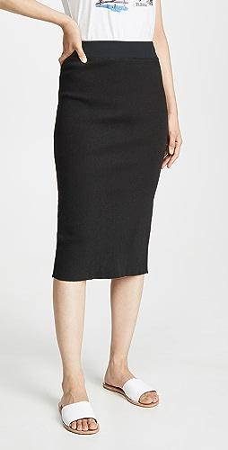 James Perse - 罗纹中长半身裙