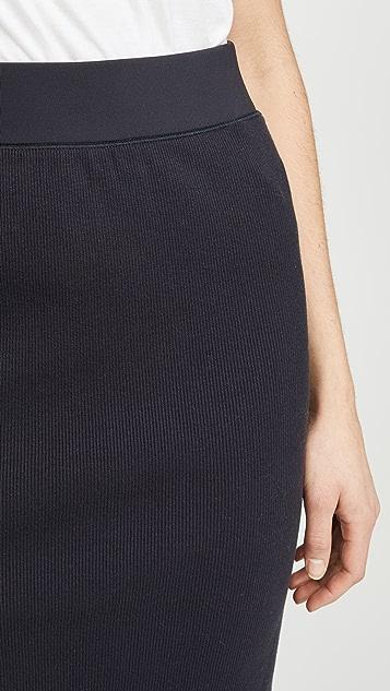 James Perse 罗纹中长半身裙