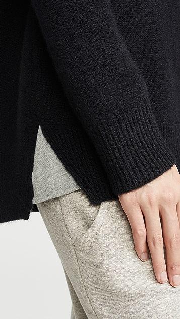 James Perse Свободный кашемировый свитер с округлым вырезом