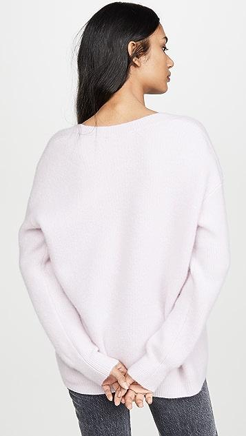 James Perse Объемный кашемировый свитер с V-образным вырезом