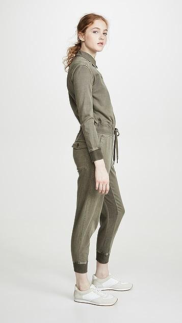 James Perse 混合面料连身衣