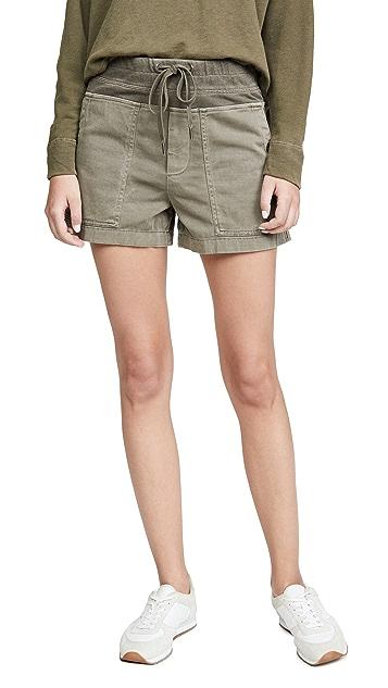 James Perse 棉质竹节纹军旅风格短裤