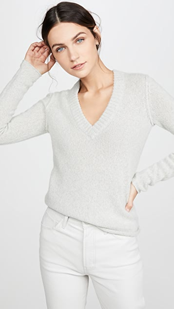 James Perse Luxe Cashmere V Neck Sweater