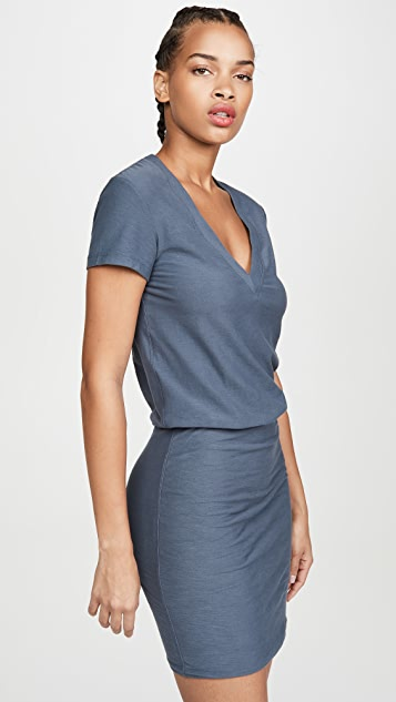 James Perse V Neck Blouson Dress