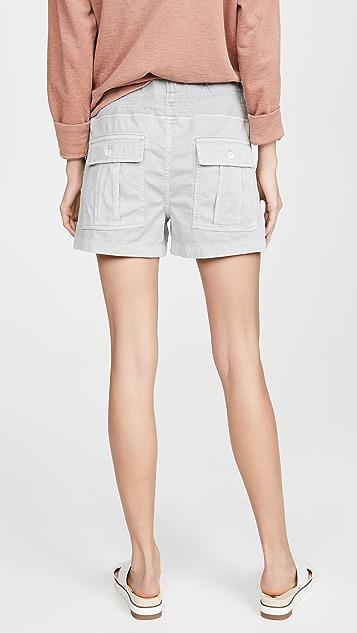 James Perse Cotton Slub Military Shorts