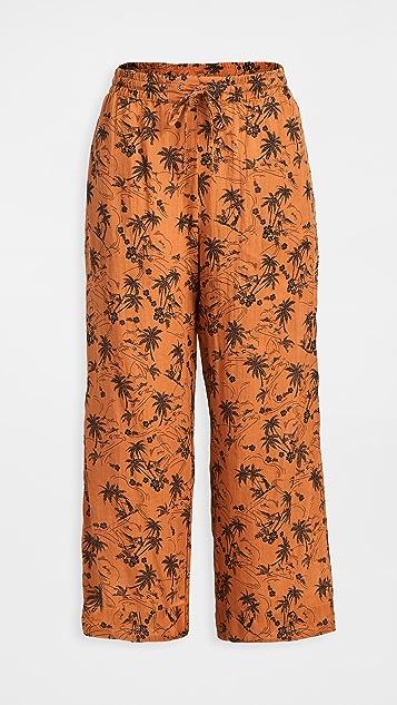 James Perse Island Print Cropped Pj Pants