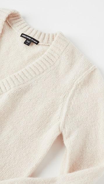 James Perse 开司米羊绒绉绸深 V 毛衣