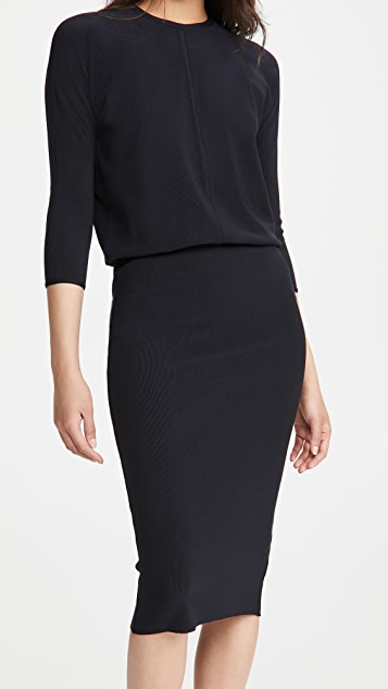 James Perse Ribbed Blouson Dress