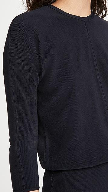 James Perse Ribbed Blouson Dress
