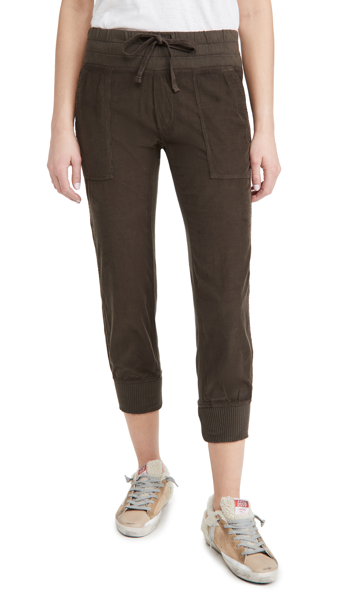 James Perse Corduroy Mixed Media Pants