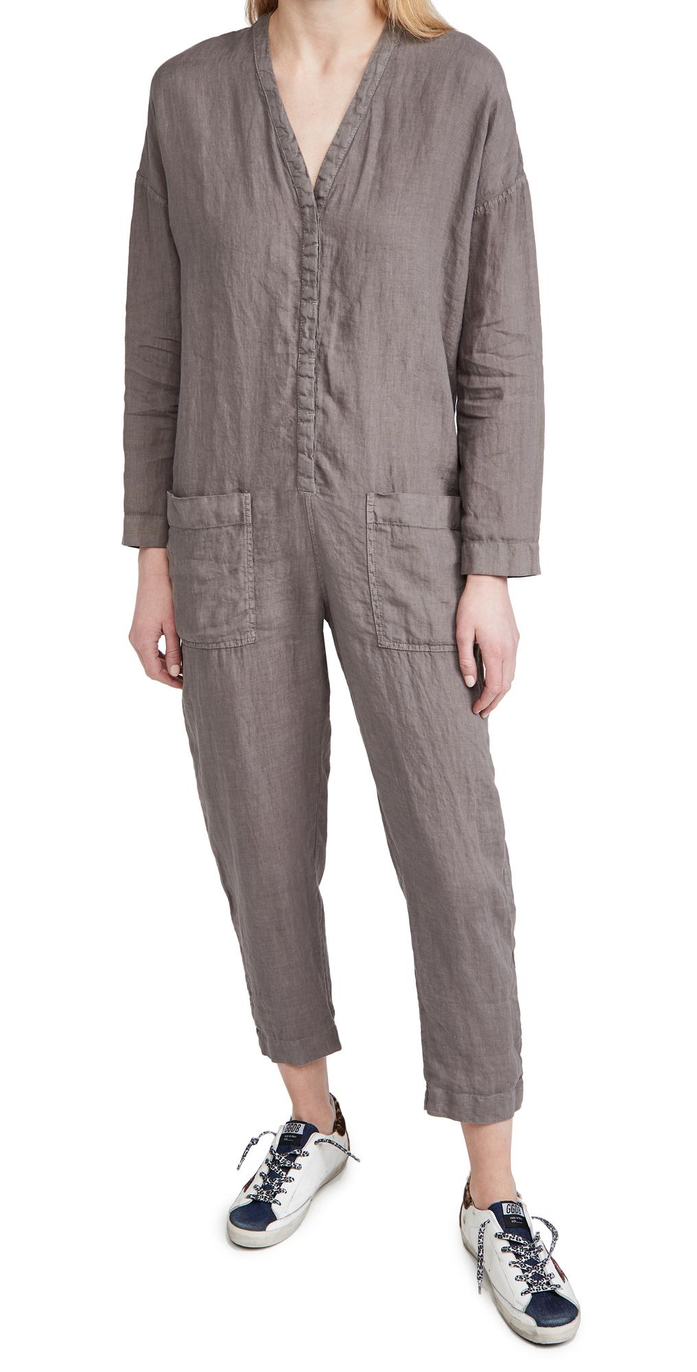 James Perse Canvas Linen Jumpsuit